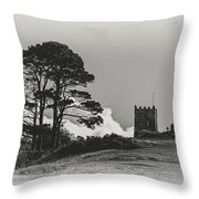 Tree And Tower Throw Pillow