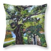 Tree At Cartecay Throw Pillow
