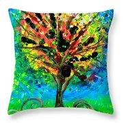 Tree Of Faith Throw Pillow