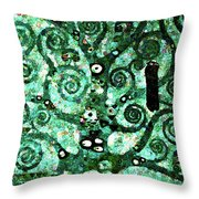 Tree Of Life Abstract Expressionism Throw Pillow