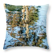 Tree Reflection Abstract Throw Pillow by Kate Brown