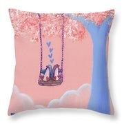 Tree Swing 3 Throw Pillow