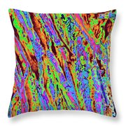 Tree Trunk Abstract Throw Pillow
