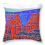 Trees Plateau Valley Color 2871ado National Monument  Throw Pillow