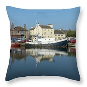 Trefusis Gy242 At Glasson Dock Throw Pillow