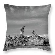 Tres Marias Black And White Moon Valley Chile Throw Pillow
