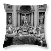 Trevi Fountain - Fontana Di Trevi Throw Pillow