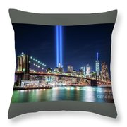 Tribute In Light From Brooklyn 1 Throw Pillow