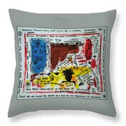 Tribute To Basquiat, Philosophy, And Activism Throw Pillow