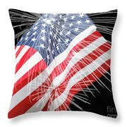 Tribute To The Usa Throw Pillow