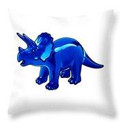 Triceratops Cartoon Throw Pillow