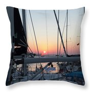 Trieste Sunset Throw Pillow by Helga Novelli