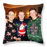 Trio Posing Throw Pillow
