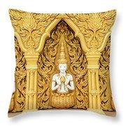 Triple Buddhas, Thailand Throw Pillow