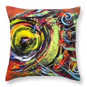 Triple Crown Blue Eyed Horse Faced Fish Throw Pillow