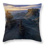 Triumvirate Throw Pillow by Dustin LeFevre