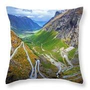 Trollstigen Throw Pillow