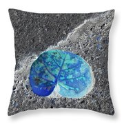 Tropical Leaf In Abstract Throw Pillow