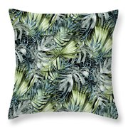 Tropical Leaves I Throw Pillow