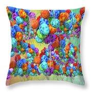 Tropical Print Balloons Throw Pillow