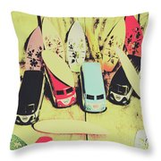 Tropical Trippers 1960 Throw Pillow