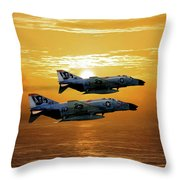 Trouble On The Horizon Throw Pillow