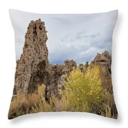 Tufa Of Mono Lake Throw Pillow