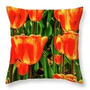 Tulips 2019d Throw Pillow