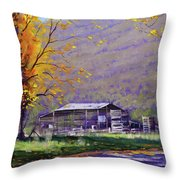 Tumut Valley Farm Shed Throw Pillow