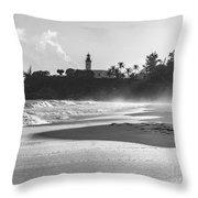 Tuna Punta Lighthouse Black And White Throw Pillow