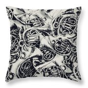 Tunes And Tones Throw Pillow