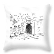 Tunnel Of Problems Throw Pillow