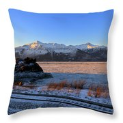 Turnagain Arm And Kenai Mountains Alaska Throw Pillow