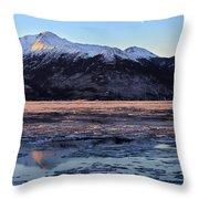 Turnagain Arm At Dawn Alaska Throw Pillow