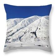 Turnagain Pass On The Kenai Peninsula Alaska Throw Pillow