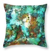 Turquoise Terrain Throw Pillow