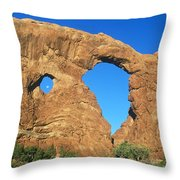 Turret Arch With Moon Throw Pillow