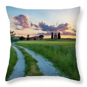 Tuscan Sunset Throw Pillow