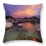 Twilight Canvas  Throw Pillow by Sean Sarsfield
