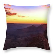 Twilight In The Canyon Throw Pillow