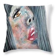 Twilight - Woman Abstract Art Throw Pillow