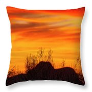 Twin Peaks Silhouette H1840 Throw Pillow by Mark Myhaver