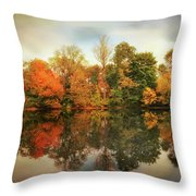 Twin Pond Reflections Throw Pillow