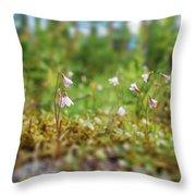 Twinflower Forest Throw Pillow