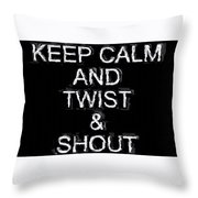 Twist And Shout V3 Throw Pillow