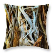 Twisted Tree Limbs Throw Pillow