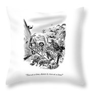Two At A Time Throw Pillow
