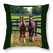 Two Friends With Proverbs 18 Vs 24 Throw Pillow