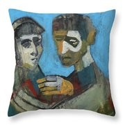 Two People Throw Pillow