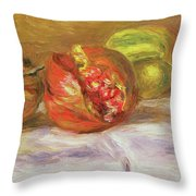 Two Pomegranates Throw Pillow
